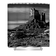 Stagecoach Rock Monument Valley Shower Curtain