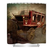 Stagecoach West Sepia Textured Shower Curtain