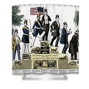 Stages Of A Mans Life  1848 Shower Curtain