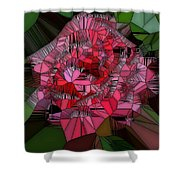 Stain Glass Rose Shower Curtain
