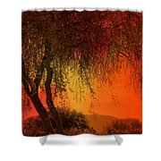 Stained By The Sunset Shower Curtain