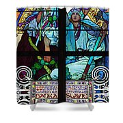 Stained Galss Window In St Vitus Shower Curtain