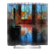 Stained Glass 01 Photo Art Shower Curtain