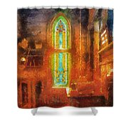 Stained Glass 05 Photo Art Shower Curtain