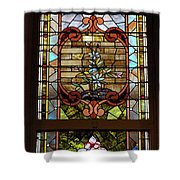 Stained Glass 3 Panel Vertical Composite 02 Shower Curtain by Thomas Woolworth
