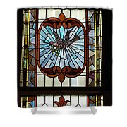 Stained Glass 3 Panel Vertical Composite 05 Shower Curtain by Thomas Woolworth