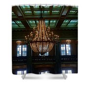 Stained Glass And Chandelier  Shower Curtain