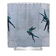 Stained Glass Angels Shower Curtain