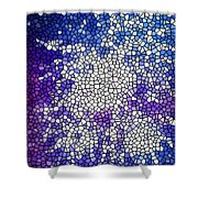 Stained Glass Beautiful Fireworks 1 Shower Curtain