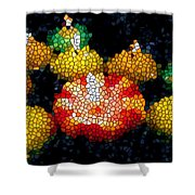 Stained Glass Candle 1 Shower Curtain