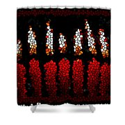 Stained Glass Candle Shower Curtain