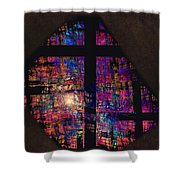 Stained Glass Cross Shower Curtain
