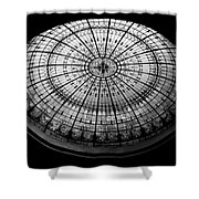 Stained Glass Dome - Bw Shower Curtain