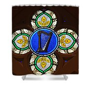 Stained Glass Harp Shower Curtain
