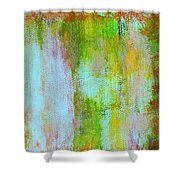 Stained Glass Houses Shower Curtain