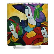 Stained Glass IIi Shower Curtain