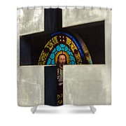 Stained Glass In A Tomb Shower Curtain