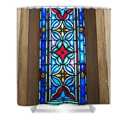 Stained Glass In Redeemer Lutheran Shower Curtain