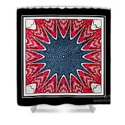 Stained Glass Lace - Kaleidoscope Shower Curtain