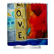 Stained Glass Love Shower Curtain by Keith Thue