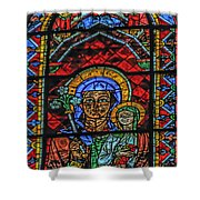 Stained Glass Of Chartres Shower Curtain