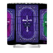 Stained Glass - Purple Shower Curtain