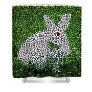 Stained Glass Rabbit Shower Curtain