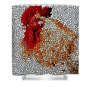 Stained Glass Rooster Shower Curtain