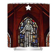 Stained Glass Saviour Shower Curtain