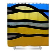 Stained Glass Scenery 3 Shower Curtain