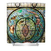 Stained Glass Skylight In Fordyce Bathhouse Shower Curtain