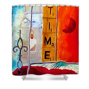 Stained Glass Time Shower Curtain by Keith Thue