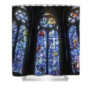 Stained Glass Triplets Shower Curtain