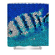 Stained Glass Underwater Fish Shower Curtain