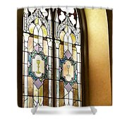 Stained Glass Window In Arch Shower Curtain