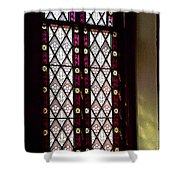 Stained Glass Window In Saint Paul's Episcopal Church-1882 In Tombstone-az Shower Curtain