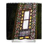 Stained Glass Window In Saint Sophia's In Istanbul-turkey  Shower Curtain