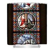 Stained Glass Window Iv Shower Curtain