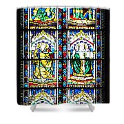 Stained Glass Window Of Santa Maria Del Fiore Church Florence Italy Shower Curtain