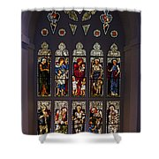 Stained Glass Window The Huntington Library Shower Curtain