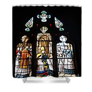 Stained Glass Window V Shower Curtain