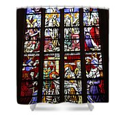 Stained Glass Window Xi Shower Curtain