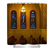 Stained Glass Windows At St Sophia Shower Curtain