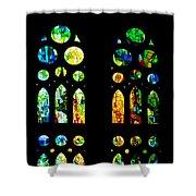 Stained Glass Windows - Sagrada Familia Barcelona Spain Shower Curtain