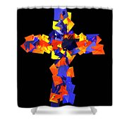 Stained Tries 16 Shower Curtain