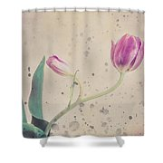 Stained Tulip Shower Curtain by Cristina-Velina Ion