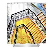 Staircase Abstract Shower Curtain