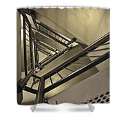 Stairing Up The Spinnaker Tower Shower Curtain