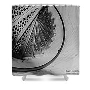 Stairs At The Fort Gratiot Light House Shower Curtain