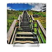 Stairs From The Beach Shower Curtain